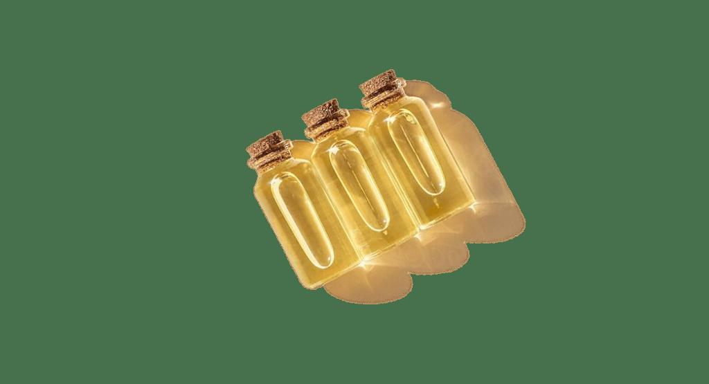 3 bottles with cbd