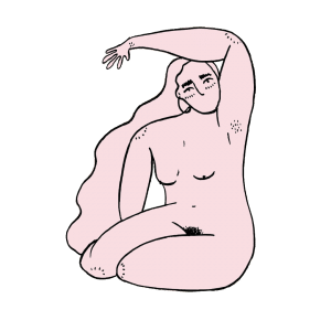 pink illustration woman relax