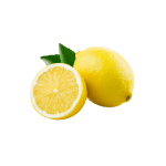 Lemon fruit isolated