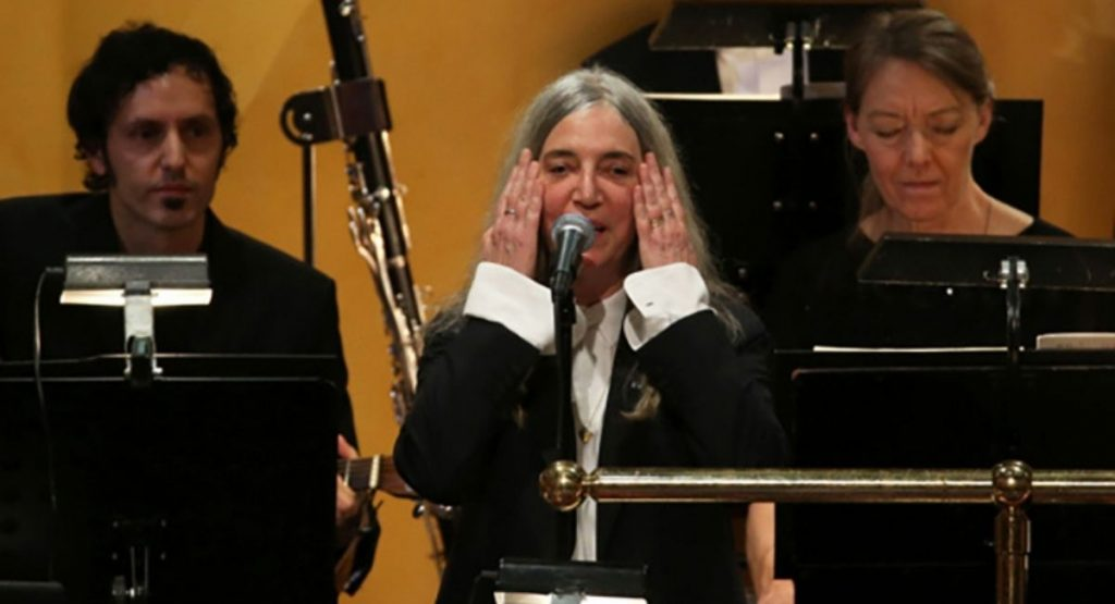 Patti Smith Nobel prize 2016